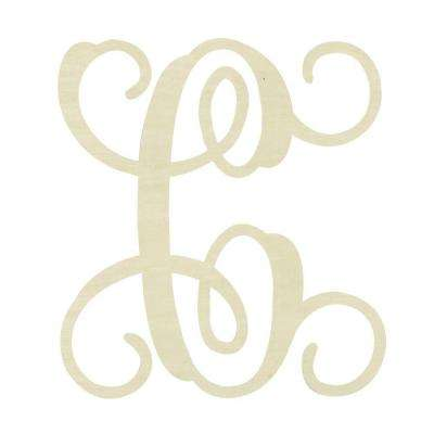 19.5 in. Unfinished Single Vine Monogram (C)