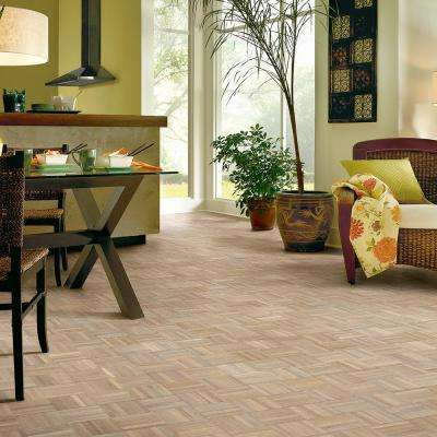 American Home Forever Summer Oak 5/16 in. Thick x 12 in. Wide x 12 in. Length Hardwood Parquet Flooring (25 sq.ft./case)