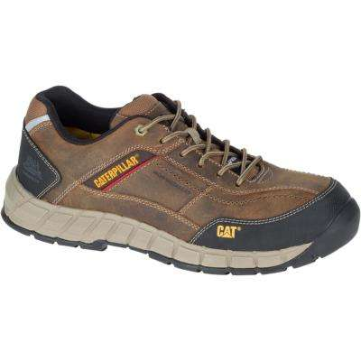 Streamline Leather Men's Dark Beige Composite Toe Work Shoes