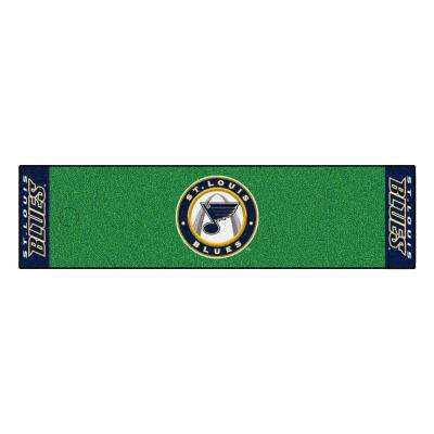 NHL St. Louis Blues 1 ft. 6 in. x 6 ft. Indoor 1-Hole Golf Practice Putting Green
