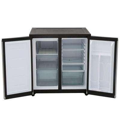 33 in. W 5.5 cu. ft. Side by Side Refrigerator in Silver, Counter Depth