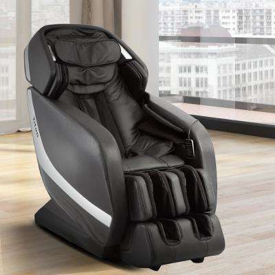 Pro Jupiter XL Series Grey Faux Leather Reclining Massage Chair with 3D L-Track, Bluetooth Speakers, XL Height Capacity