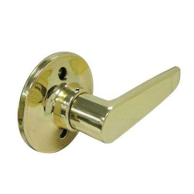 Straight Polished Brass Dummy Lever