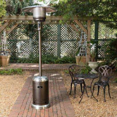 46,000 BTU Ash and Stainless Steel Gas Patio Heater