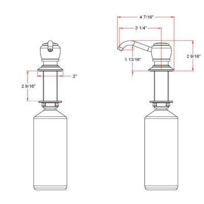 Soap Dispenser in Satin Nickel