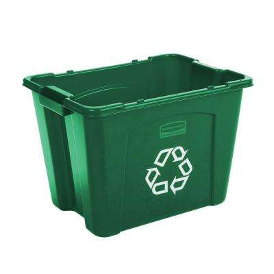 14 Gal. Green Recycling Bin