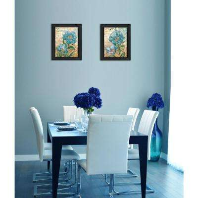 "16 in. x 30 in. ""Paris Blue"" by Ed Wargo Printed Framed Wall Art"