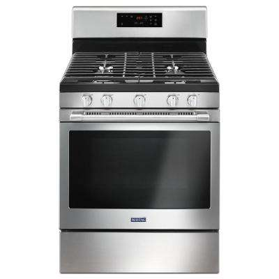 30 in. 5.0 cu. ft. Wide Gas Range with 5th Oval Burner in Fingerprint Resistant Stainless Steel