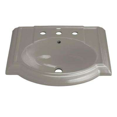 Devonshire 4-7/8 in. Vitreous China Sink Basin in Sandbar with Overflow Drain
