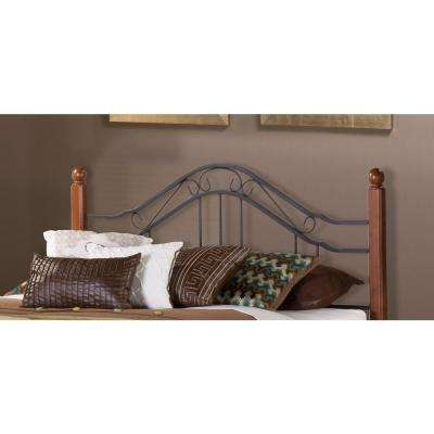 Madison King-Size Headboard with Rails in Textured Black