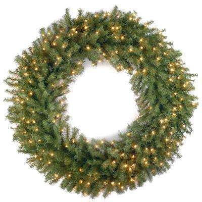 42 in. Norwood Fir Artificial Wreath with Clear Lights