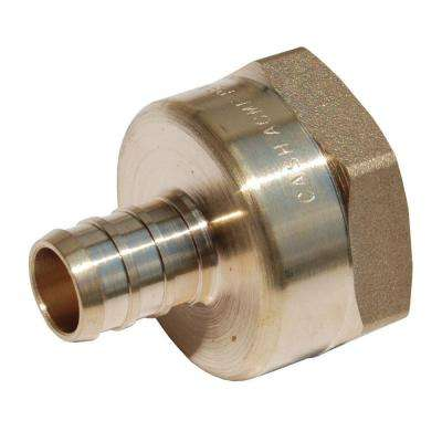 1/2 in. Brass PEX Barb x 3/4 in. Female Threaded Adapter
