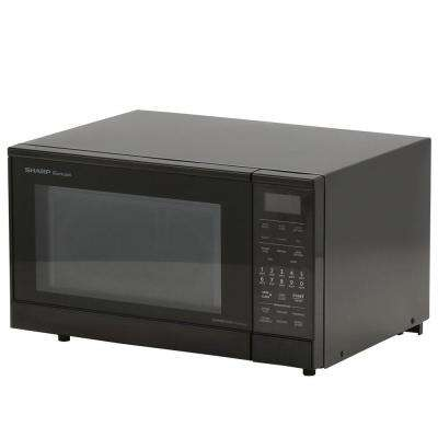 0.9 cu. ft., 900 Watt Counter Top Convection Microwave in Black