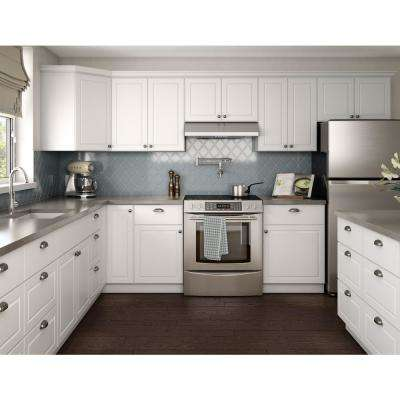 Madison Assembled 33x96x24 in. Pantry/Utility Double Oven Cabinet in Madison Warm White