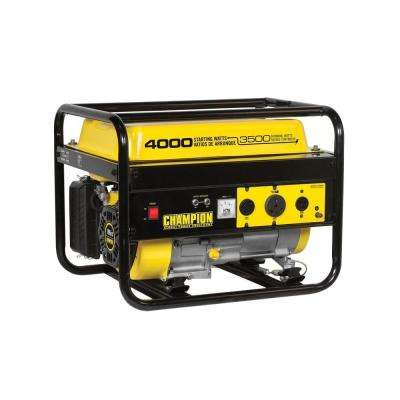 3,500/4,000-Watt Gasoline Powered Recoil Start RV Ready Portable Generator