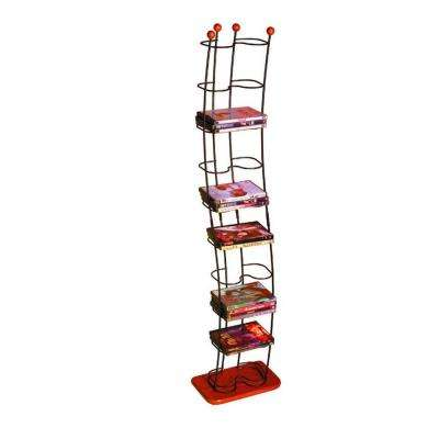 Wave 74-DVD Wood Media Tower in Black Cherry