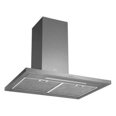 36 in. Smart Wall Mount Range Hood with Light and Wi-Fi Enabled in Stainless Steel