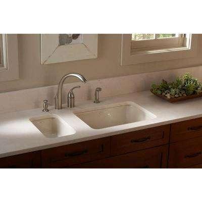 Iron Tones Dual Mount Cast Iron 24 in. Single Bowl Kitchen Sink in White