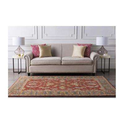 Aristocrat Rust Red 9 ft. x 12 ft. Area Rug
