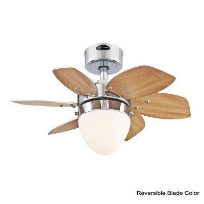Origami 24 in. Indoor Chrome Finish Ceiling Fan