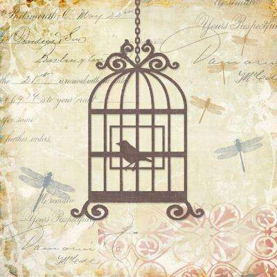 "20 in. x 20 in. ""Caged Whimsy II"" Printed Contemporary Artwork"