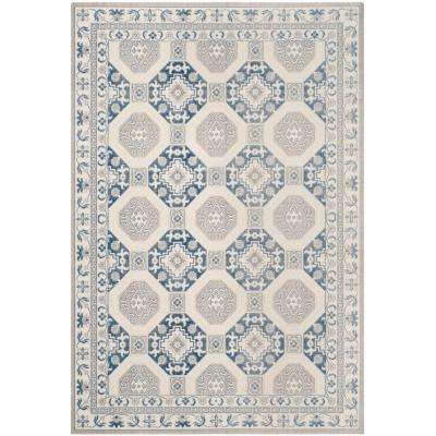 Patina Blue/Ivory 6 ft. 7 in. x 9 ft. Area Rug