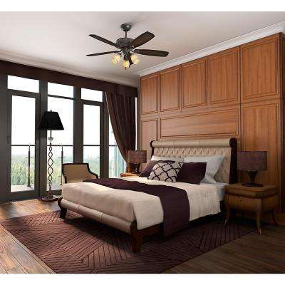 Ambrose 52 in. LED Indoor Onyx Bengal Bronze Three Light Ceiling Fan