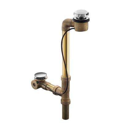 Clearflo Horizontal Overflow Bath Drain in Vibrant Polished Nickel