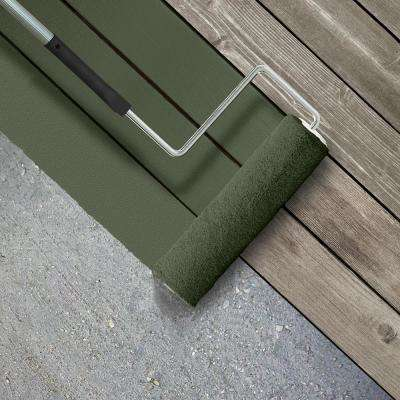 1 gal. #SC-120 Ponderosa Green Smooth Solid Color Exterior Wood and Concrete Coating