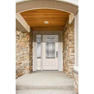 50 in. x 80 in. 3/4 Lite Mission Prairie Primed Steel Prehung Left-Hand Inswing Front Door with Left-Hand Sidelite