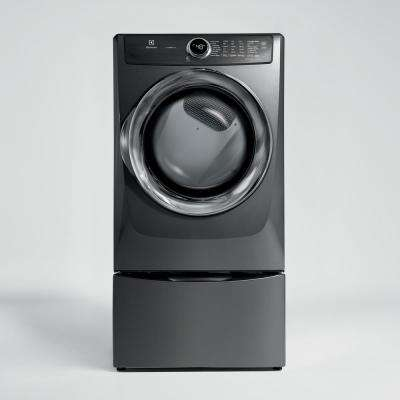 8.0 cu. ft. Front Load Perfect Steam Gas Dryer with LuxCare Dry and Instant Refresh in Titanium