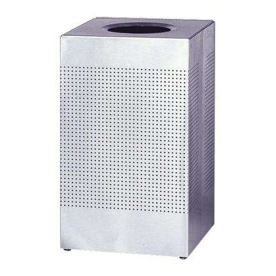 29 Gal. Stainless Steel Square Hinged Top Trash Can