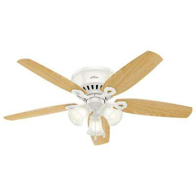 Builder Low Profile 52 in. Indoor Snow White Ceiling Fan