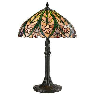 Cactus Bloom 21.5 in. Tiffany Antique Bronze Table Lamp