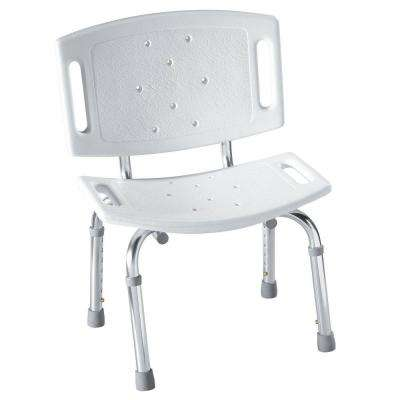 Adjustable Shower Chair in White