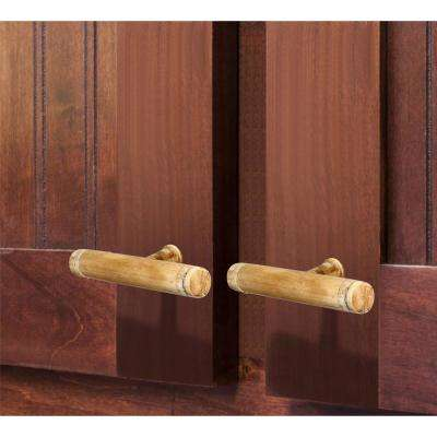 Brown Architectural 3-2/3 in. (93 mm) Light Brown Cabinet Knob