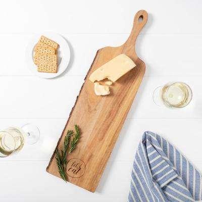Let's Eat Live Edge Mango Wood Serving Board