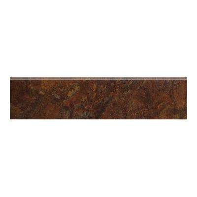 Imperial Slate 3 in. x 12 in. Rust Ceramic Bullnose Floor and Wall Tile