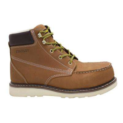 Rocker Men's Brown Leather Composite Toe Work Boot