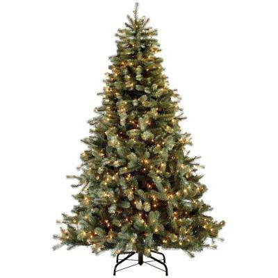 7.5 ft. Indoor Pre-Lit Lakewood Blue Spruce Artificial Christmas Tree