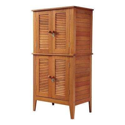 22 in. x 32 in. x 64.5 in. Montego Bay Four Door Multi-Purpose Storage Cabinet