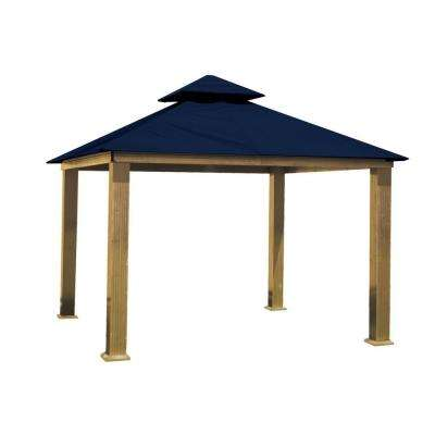 14 ft. x 14 ft. ACACIA Aluminum Gazebo with Captain Navy Canopy
