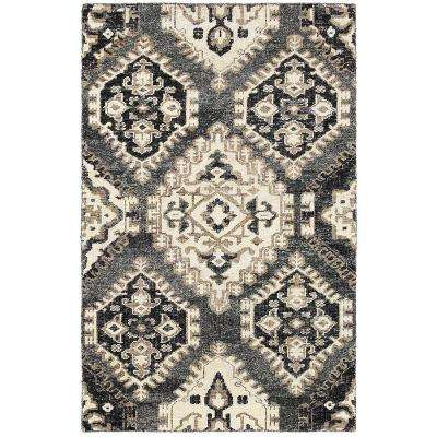 Nisha Gray 5 ft. 6 in. x 8 ft. 6 in. Hand Knotted Indoor Area Rug