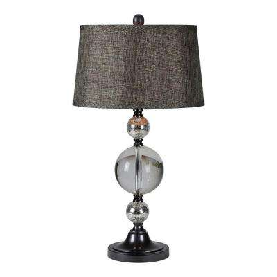 Luna 27 in. Chrome Table Lamp