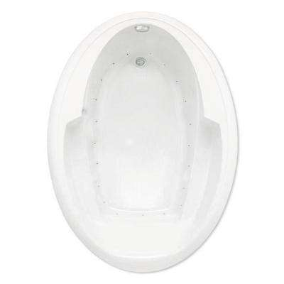 Ariel I 5 ft. Air Bath Tub with Reversible Drain in White