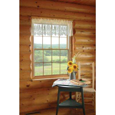 Pinecone 60 in. L Polyester Valance in Ecru