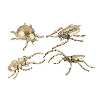 Hand Forged Gold Insects