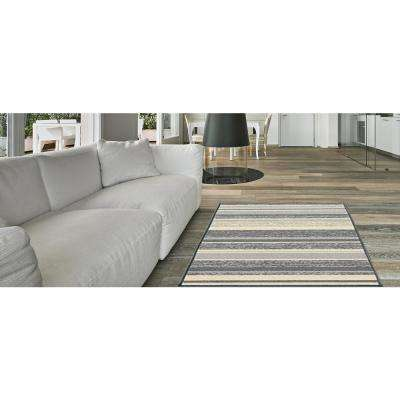 Hamam Collection Grey 3 ft. x 5 ft. Area Rug