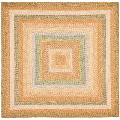 Braided Tan/Multi 8 ft. x 8 ft. Square Area Rug