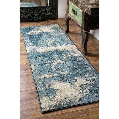 Vintage Lindsy Blue 2 ft. 8 in. x 12 ft. Runner Rug